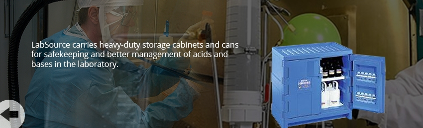Acid/Base Storage